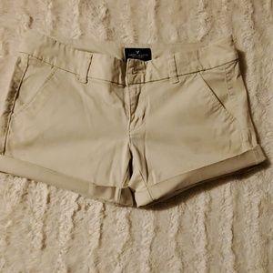 Size 2 american eagle khaki shorts